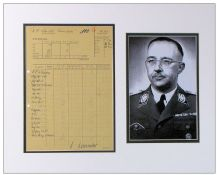 Heinrich Himmler Document Signed